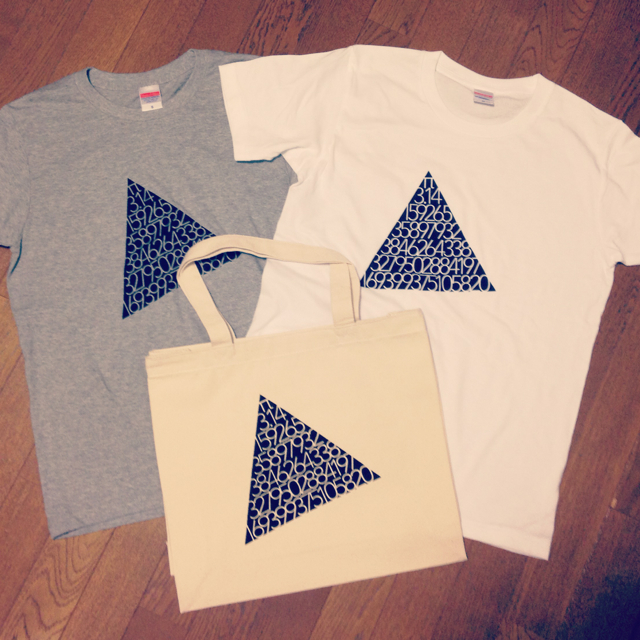 三角π Tシャツ